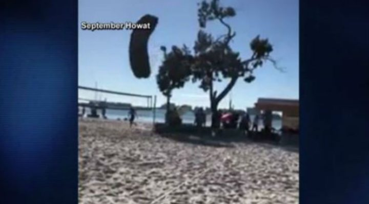 Skydiving Santa crashes, lands on beach with broken leg